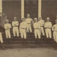 Baseball Team Photo in front of Venable