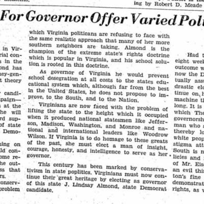 State Candidates for Governor Offer Varied Political Platforms