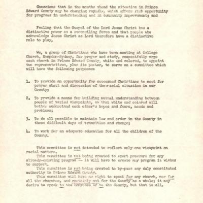 Committee Plea