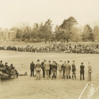 Photo of a Football Game with a Crowd
