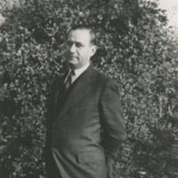 Portrait of a Man in front of a Bush