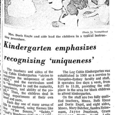 Kindergarten emphasizes recognizing 'uniqueness'