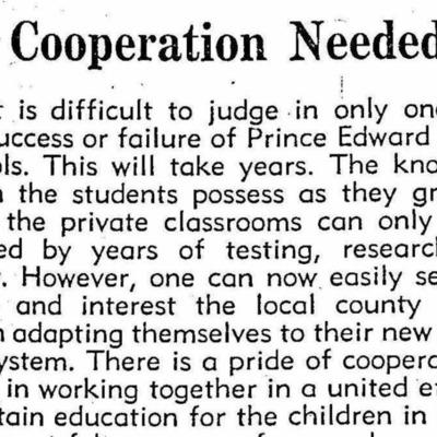 Cooperation Needed